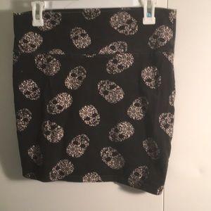 Skull Skeleton high waisted goth punk skirt